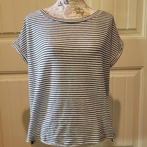 Lou & Grey Striped Cap Sleeve Loose Shirt